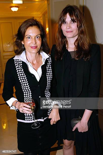 Anne Fontaine and Marina Hands at the Chaumet's Cocktail Party for Cesar's Revelations 2014 at Musee Chaumet followed by a dinner at Hotel Meurice on...