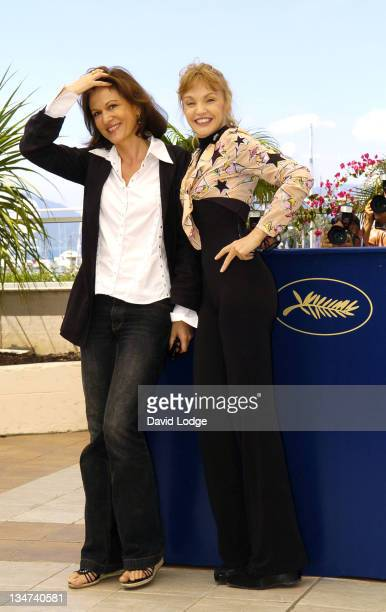 Anne Fontaine writer and Arielle Dombasle during 2006 Cannes Film Festival Nouvelle Chance Photocall at Palais des Festival in Cannes France