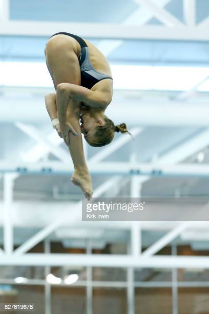 Anne Fowler of the Alexandria Dive Club competes during the Senior Women's 1m Springboard Final during the 2017 USA Diving Summer National...