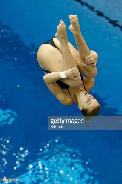 Anne Fowler of the Alexandria Dive Club competes during the Senior Women's 3m Springboard Final during the 2017 USA Diving Summer National...