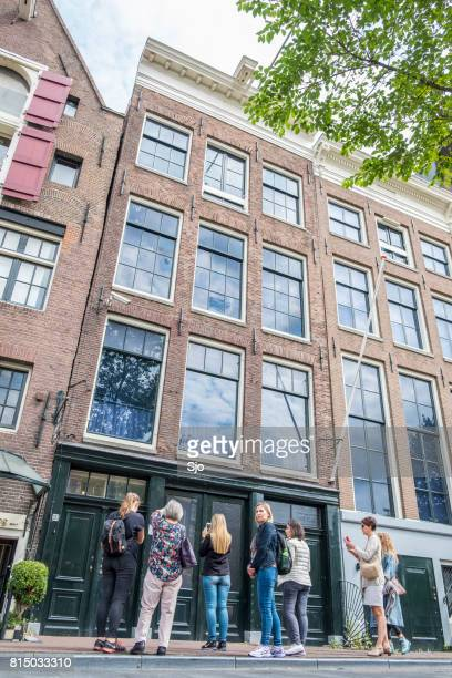 Anne Frank House and Museum in Amsterdam with tourists