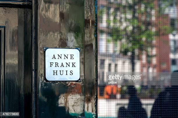 casa di anna frank di amsterdam - anna frank foto e immagini stock