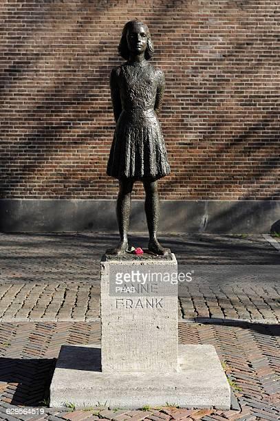Anne Frank Jewish victim of the Holocaust Statue Utrecht Netherlands