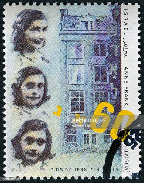 anne frank stamp - anne frank stock photos and pictures