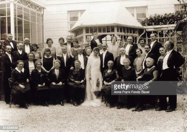 Anne Frank's parents Otto and Edith with their guests on their wedding day in Aachen Germany 12th May 1925