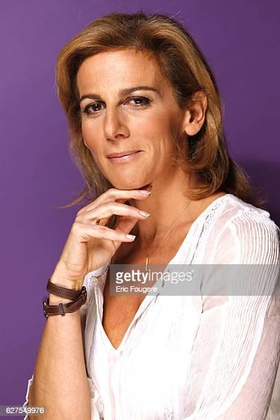 Anne Fulda on the set of TV show Vous Aurez le Dernier Mot