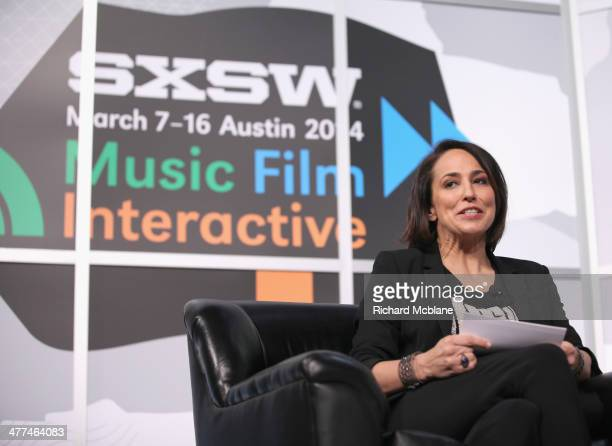 "Anne Fulenwider, Editor in Chief of Marie Claire speaks onstage at ""Running the Show: TV's New Queen of Comedy"" during the 2014 SXSW Music, Film +..."