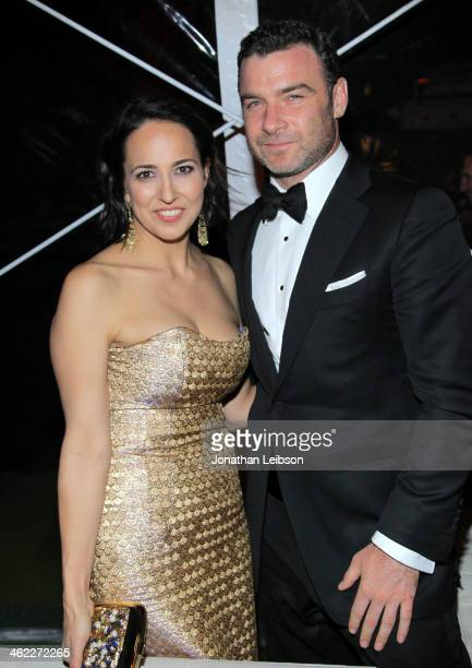 Anne Fulenwider Marie Claire Editor In Chief and Liev Schreiber attends The Weinstein Company Netflix's 2014 Golden Globes After Party presented by...