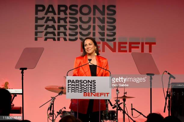 Anne Fulenwider speaks onstage during the 71st Annual Parsons Benefit honoring Pharrell, Everlane, StitchFix & The RealReal on May 20, 2019 in New...