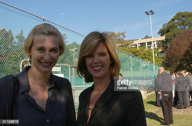 Anne Fulwood and Johanna Griggs at The Humpty Dumpty Foundation's official launch of their major annual fundraising event at The White City Tennis...