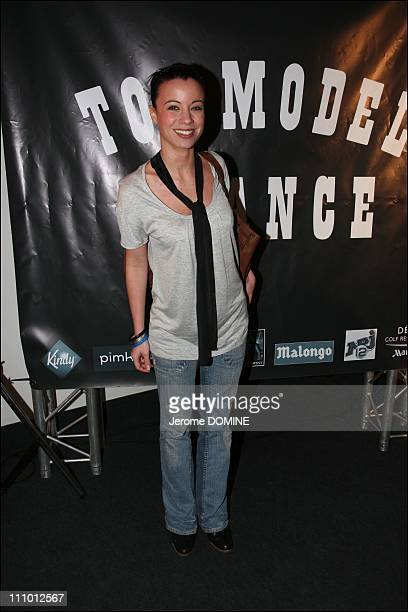 Anne Gaelle Riccio at the election of French Top Model 2007 at the Theatre Pierre Cardin in Paris France on March 26th 2007