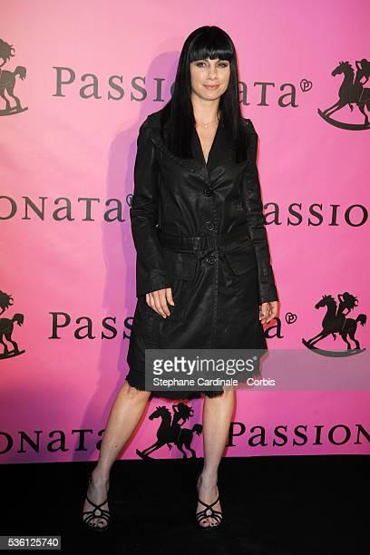 Anne Gaelle Riccio attends the presentation of Passionata FallWinter Collection 2010 in Paris