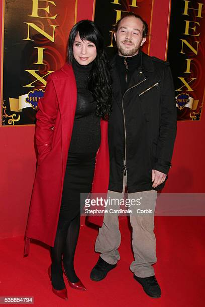 Anne Gaelle Riccio with Nicolas at the premiere of the Beijing Circus held at the Phenix Circus in Paris