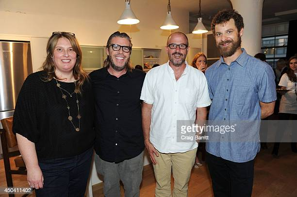 Anne Garefino Kevin Morris James Frey and Matt Stone attend the Kevin Morris book party hosted by Matt and Angela Stone Anne Garefino on June 10 2014...