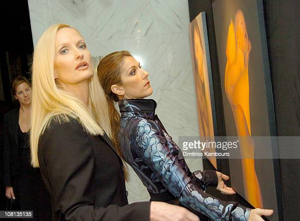 Anne Geddes and Celine Dion during Celine Dion and Anne Geddes Collaborate on a Major New Work Miracle at Sony in New York City New York United States
