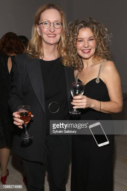 Anne Geddes and Julie Stahl attend Blonde Co Creative House Holiday Party 2018 on December 6 2018 in New York City