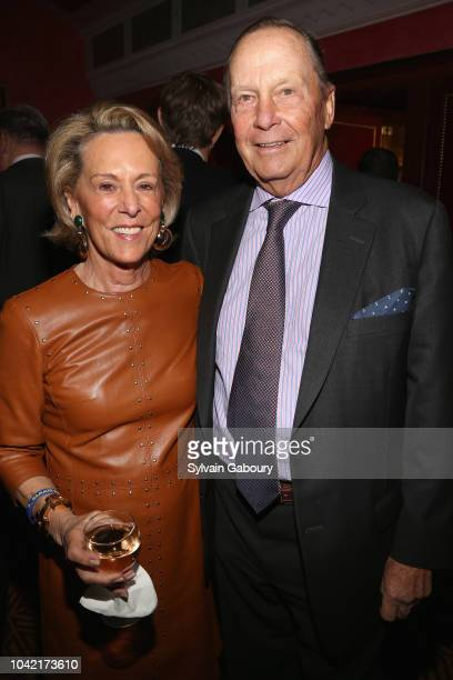 Anne Geddes and Robin Geddes attend David Patrick Columbia And Chris Meigher Toast The QUEST 400 At DOUBLES on September 27 2018 in New York City