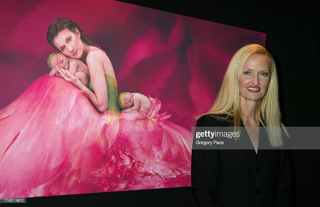 """Celine Dion And Renowned Photographer Anne Geddes Celebrate The Release Of Their Unprecedented CD/Book Collabaration """"Miracle"""" : News Photo"""