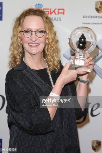 Anne Geddes poses with her award during the Steiger Award at Zeche Hansemann on March 17 2018 in Dortmund Germany