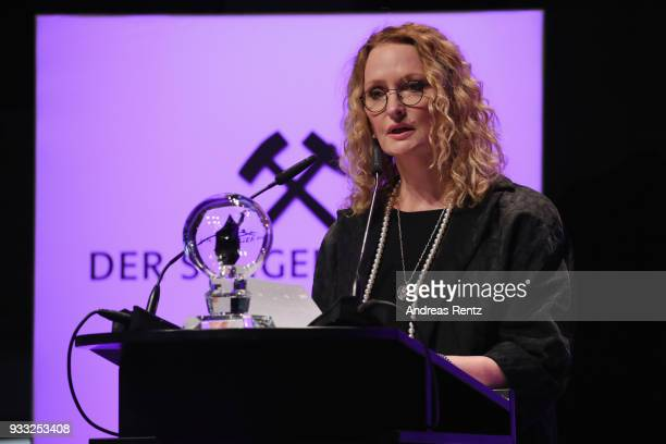 Anne Geddes speaks during the Steiger Award at Zeche Hansemann on March 17 2018 in Dortmund Germany