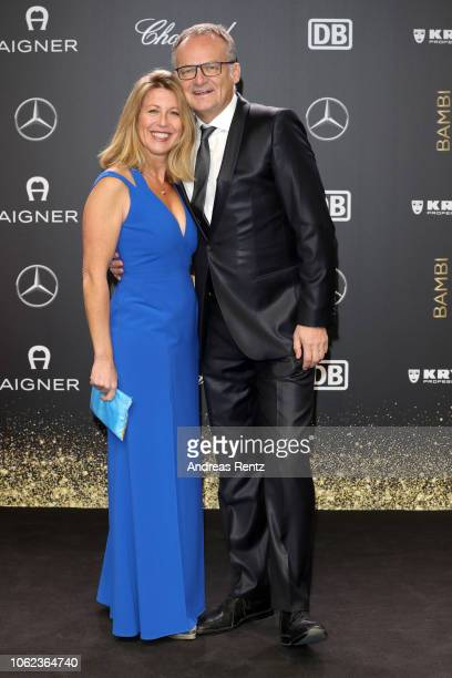 Anne Gesthuysen and Frank Plasberg attend the 70th Bambi Awards at Stage Theater on November 16 2018 in Berlin Germany