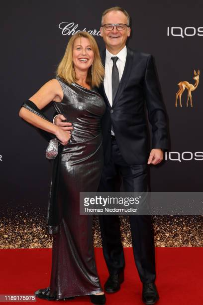 Anne Gesthuysen and Frank Plasberg attend the 71st Bambi Awards at Festspielhaus Baden-Baden on November 21, 2019 in Baden-Baden, Germany.