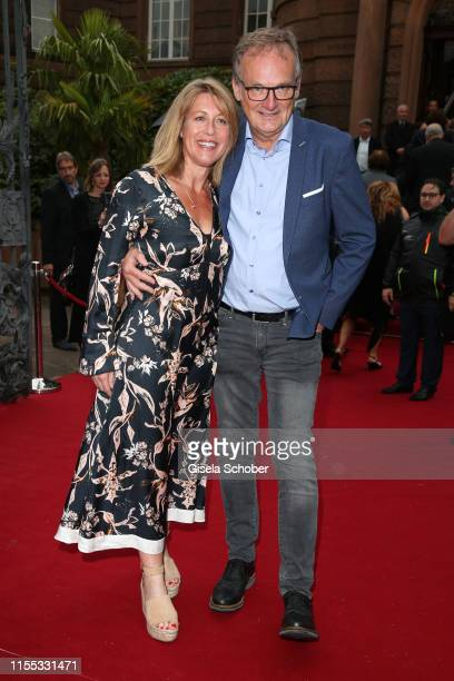 Anne Gesthuysen and her husband Frank Plasberg during the opening of the Nibelungen Theatre Festival at St Peter's Cathedral on July 12, 2019 in...