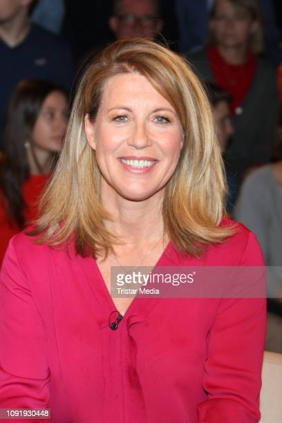 Anne Gesthuysen during the 'Markus Lanz' TV show on January 30 2019 in Hamburg Germany