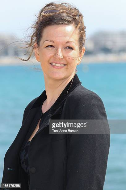 Anne Girouard attends the Marseille photocall on April 9 2013 in Cannes France