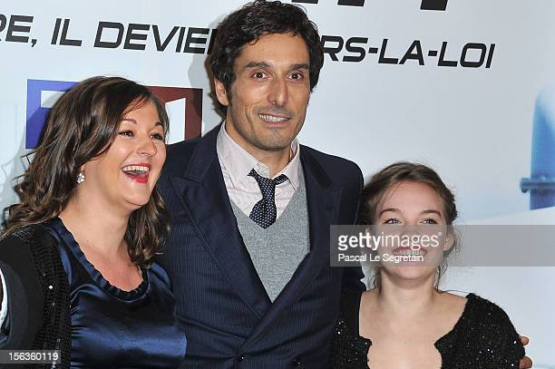 Anne Girouard Vincent Elbaz and Sarah Brannens attend 'No Limit' a Europacorp And TF1 Series Launch at UGC George V on November 13 2012 in Paris...