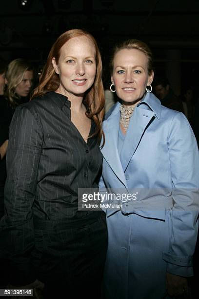 Anne Grauso and Muffie Potter Aston attend Calvin Klein Fall 2005 Fashion Show at Milk Studios on February 10 2005 in New York City
