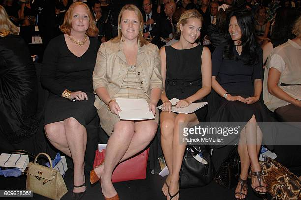 Anne Grauso Marjorie Gubelmann Lauren DuPont and Helen Schifter attend CAROLINA HERRERA Spring 2008 Collection at The Tent on September 10 2007 in...