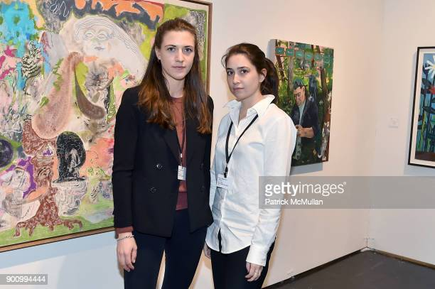 Anne Haack and Sam Eddo attend NADA Art Fair at Ice Palace Studios on December 10 2017 in Miami Florida