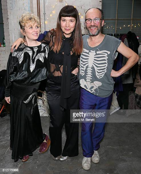 Anne Hardy Deborah Rigby and Paul Noble attend the Medecins Sans Frontieres art and music fundraising event on February 27 2016 in London England