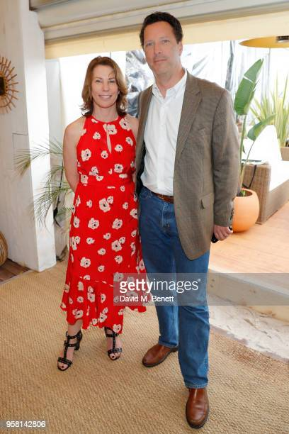 Anne Harrison and Andrew Karpen attend the Leave No Trace party presented by PerrierJouet at Nikki Beach on May 13 2018 in Cannes France