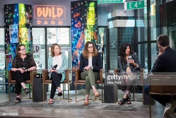 "Anne Harrison, Linda Reisman, Anne Rosellini, Debra Granik visit Build Series to discuss ""Leave No Trace"" at Build Studio on June 26, 2018 in New..."