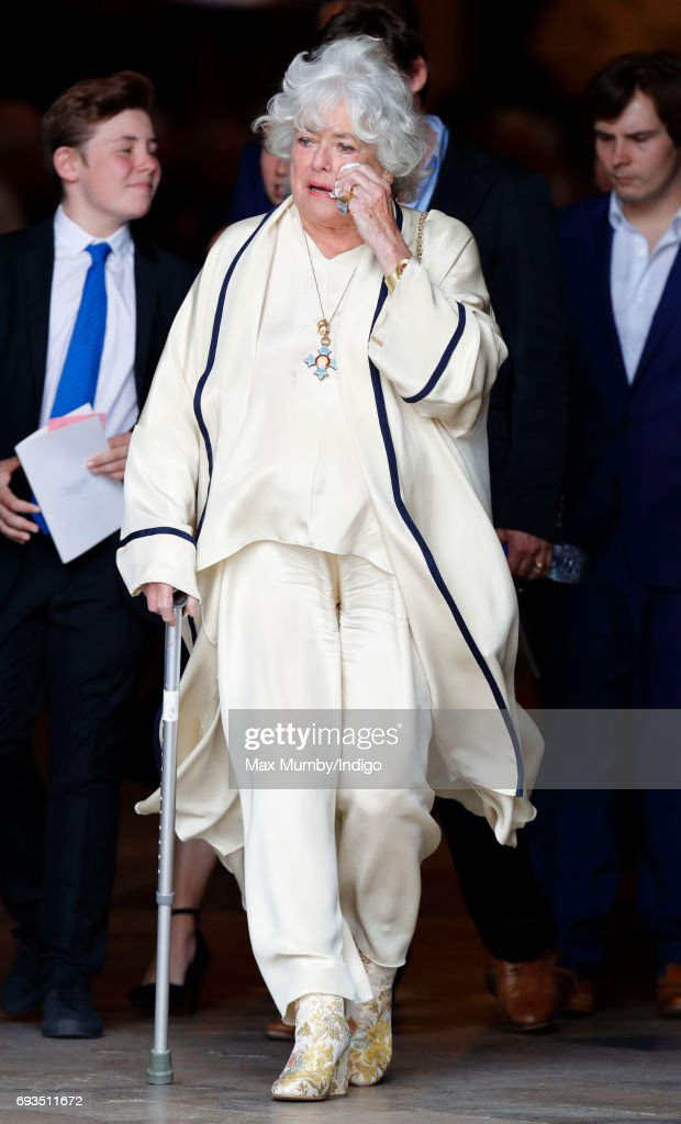 Anne Hart attends a Service of Thanksgiving for the Life and Work of her late husband Ronnie Corbett at Westminster Abbey on June 7, 2017 in London, England. Ronnie Corbett died in March 2016 aged 85.