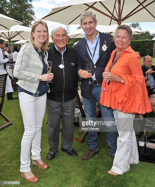 Anne Hartropp Sir Stirling Moss Sir Stuart Rose and Lady Susie Moss attend Cartier Style Luxe Lunch Reception at Goodwood Festival of Speed at...