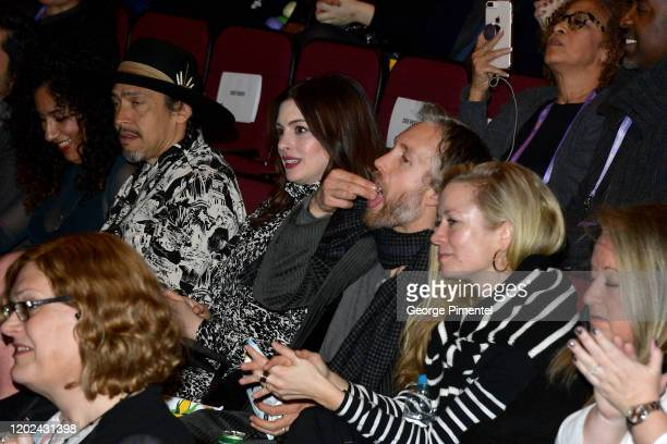 Anne Hathaway and Adam Shulman and attend The Last Thing He Wanted premiere at Eccles Center Theatre on January 27 2020 in Park City Utah
