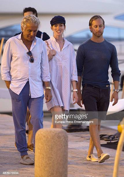 Anne Hathaway and Adam Shulman are seen on August 13 2015 in Ibiza Spain