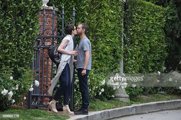 Anne Hathaway and Adam Shulman are seen on May 24 2012 in Los Angeles California