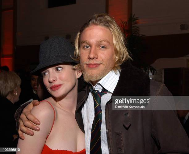 Anne Hathaway and Charlie Hunnam during 'Nicholas Nickleby' New York Premiere AfterParty at St Bartholomew's Restaurant in New York City New York...