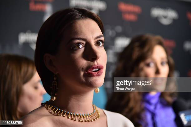 Anne Hathaway and Emmy Rossum attend Amazon's Museum Of Modern Love on October 10 2019 in New York City