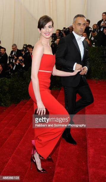 Anne Hathaway and Francisco Costa attend the 'Charles James Beyond Fashion' Costume Institute Gala>> at the Metropolitan Museum of Art on May 5 2014...