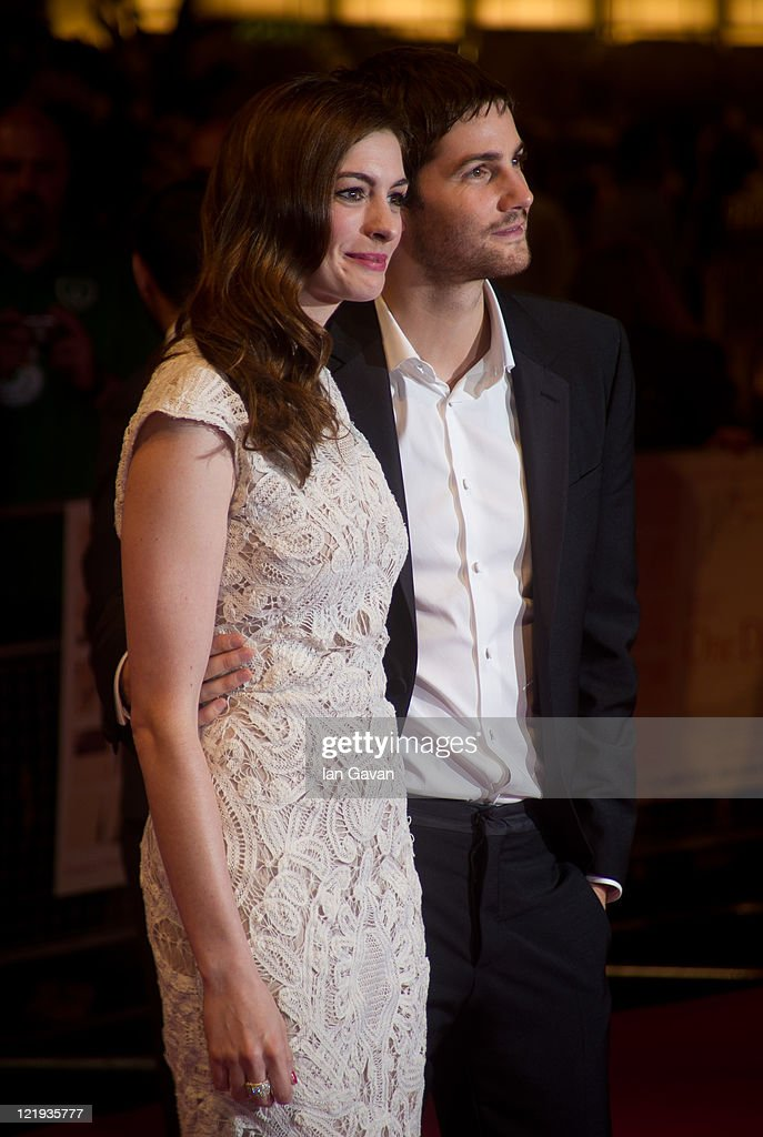 Anne Hathaway and Jim Sturgess attend the European premiere of 'One Day' at Vue Westfield on August 23, 2011 in London, England.