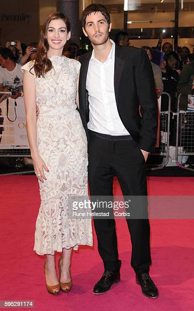 Anne Hathaway and Jim Sturgess attend the premiere of One Day at Westfield