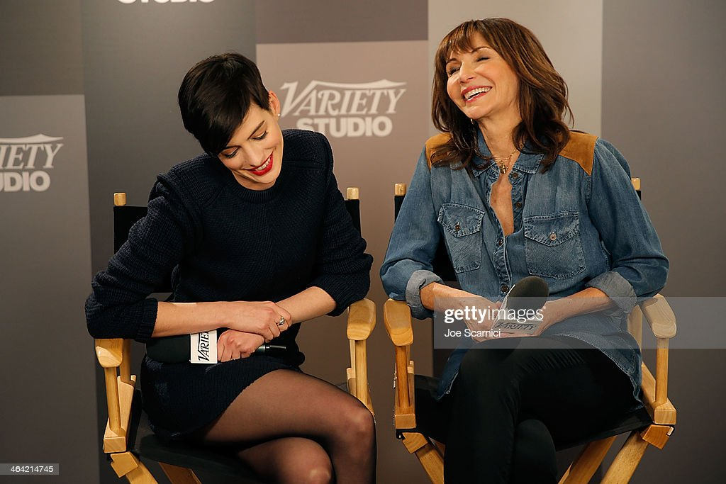 Anne Hathaway and Mary Steenburgen attend The Variety Studio: Sundance Edition Presented By Dawn Levy on Day 4 of the 2014 Park City2014 in Park City, Utah.