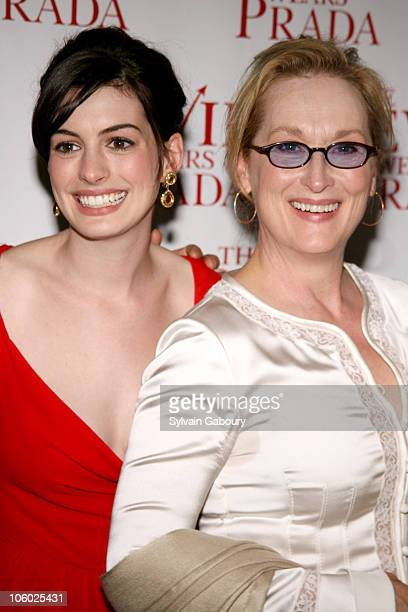 Anne Hathaway and Meryl Streep during Twentieth Century Fox Premiere of The Devil Wears Prada Arrivals at AMC Loews Lincoln Square at 1998 Broadway...