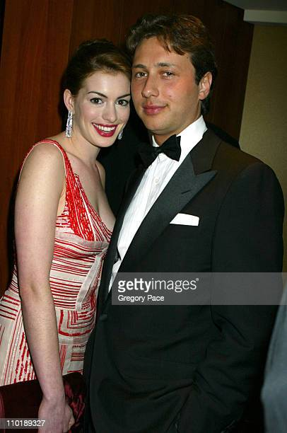 Anne Hathaway and Raffaello Follieri during The Entertainment Industry Foundation's 2nd Hollywood Hits Broadway Benefit Gala for Colon Cancer...