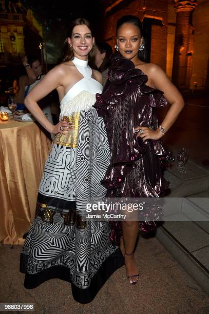 Anne Hathaway and Rihanna attend the 'Ocean's 8' World Premiere After Party on June 5 2018 in New York City